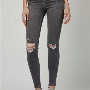 Topshop Jamie Jeans in gray